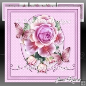 Pink Roses & Butterflies Mini Kit