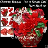 Christmas Bouquet - Pots of Flowers Card