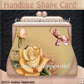 Handbag Shape Card yellow
