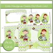 Little Handyman Double Fold Back Card
