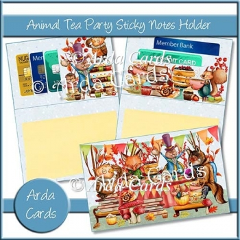 Animal Tea Party Sticky Notes Holder