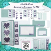 All of My Heart Asymmetric Decoupage Card Kit