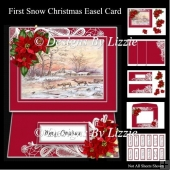 First Snow Christmas Easel Card