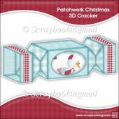 Patch Work Christmas 3D Cracker Gift Box
