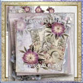 Across the bridge card with decoupage