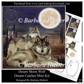Desert Moon Wolf Dream Catcher Mini Kit