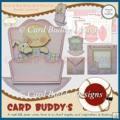 Rock-A-Bye Baby Girl Stand Up Rocker Card Kit