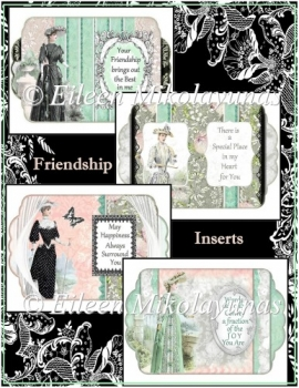 Vintage Friendship Sentiment Inserts Set