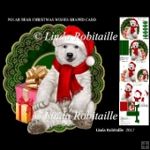 Polar Bear Christmas Wishes Shaped Card