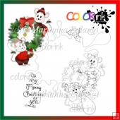 decorating mice and sentiment Digi stamp