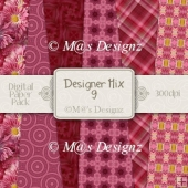 Designer Mix Set 9 A4 Paper Pack