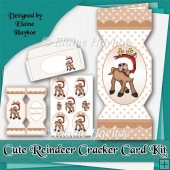 Cute Reindeer Cracker Card Kit