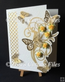 Butterfly Lattice Cut Out Card with Topper