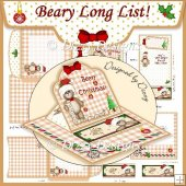 Beary Long Christmas List! Easel Topper Card