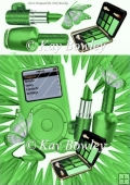 Green MP3 Player with butterflies & ladies Access 8x8