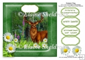 Summer Stag - 7.5 x 7.5 Card Topper Fits 8 x 8 Cards Comfortably