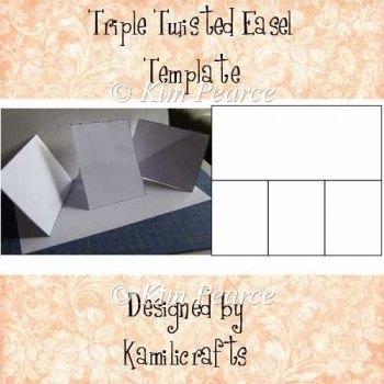 Triple Twisted Easel Card Template - Personal Use