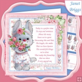 ROSE BUNNY & VERSE 7.5 Decoupage & Insert Kit