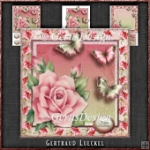 Vintage Romantic Rose and Butterflies 1164