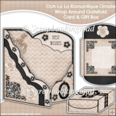 Oh La La Romantique Ornate Wrap Around Gatefold Card & Gift Box