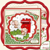 Letters for Micemas Christmas 8x8 Decoupage Kit