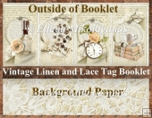 Vintage Linen and Lace Booklet with Pockets & Coordinating Tags