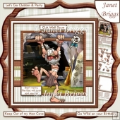 WITCH DOCTOR 8x8 Get Well or Birthday Decoupage & Insert Kit