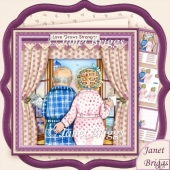 Romantic Oldies Birthday Retirement Anniversary Decoupage Kit