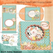 Scallop Tent Card Hoppy Easter