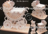 Scalloped 3D Pram & Box, SVG, MTC, SCAL, CRICUT, Cameo