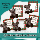 Christmas Reindeer Frame Toppers