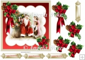 Santa Clause and children 7x7 card