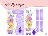 Tulips Card Front in purple