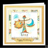 Libra Birthday Card