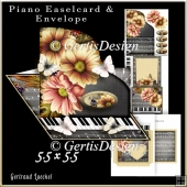 Piano Easel Card classic black