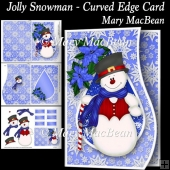 Jolly Snowman - Curved Edge Card