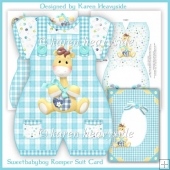 Sweetbabyboy Romper Suit Card