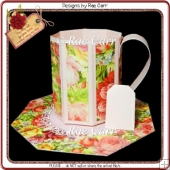 707 Rose Mug & Saucer Set HAND and MACHINE Formats