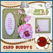 Pink Pansy Shaped Fold Card Kit