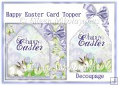 Cottage Chic Happy Easter Card Topper with Decoupage