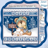 SELLING SNOWBALLS 7.5 Christmas Decoupage & Easy Cut Word Strips