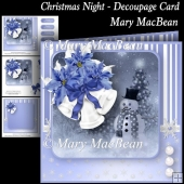 Christmas Night - Decoupage Card