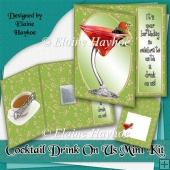Cocktail Drink On Us Card Kit
