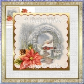 A Christmas wish 5.5x5.5 card and decoupage