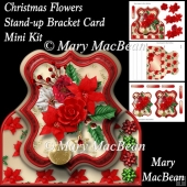 Christmas Flowers - Stand-up Bracket Card Mini Kit
