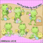 Wee Frogs Easter ClipArt Graphic Collection