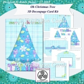 Oh Christmas Tree 3D Decoupage Card Kit