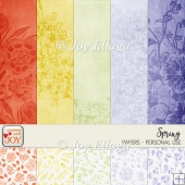 12x12 Spring Themed Scrapbook Papers
