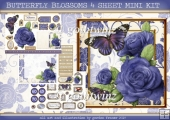 BUTTERFLY BLOSSOMS 4 SHEET MINI KIT Purple