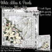 White Lilies & Pearls Victorian Mini Kit